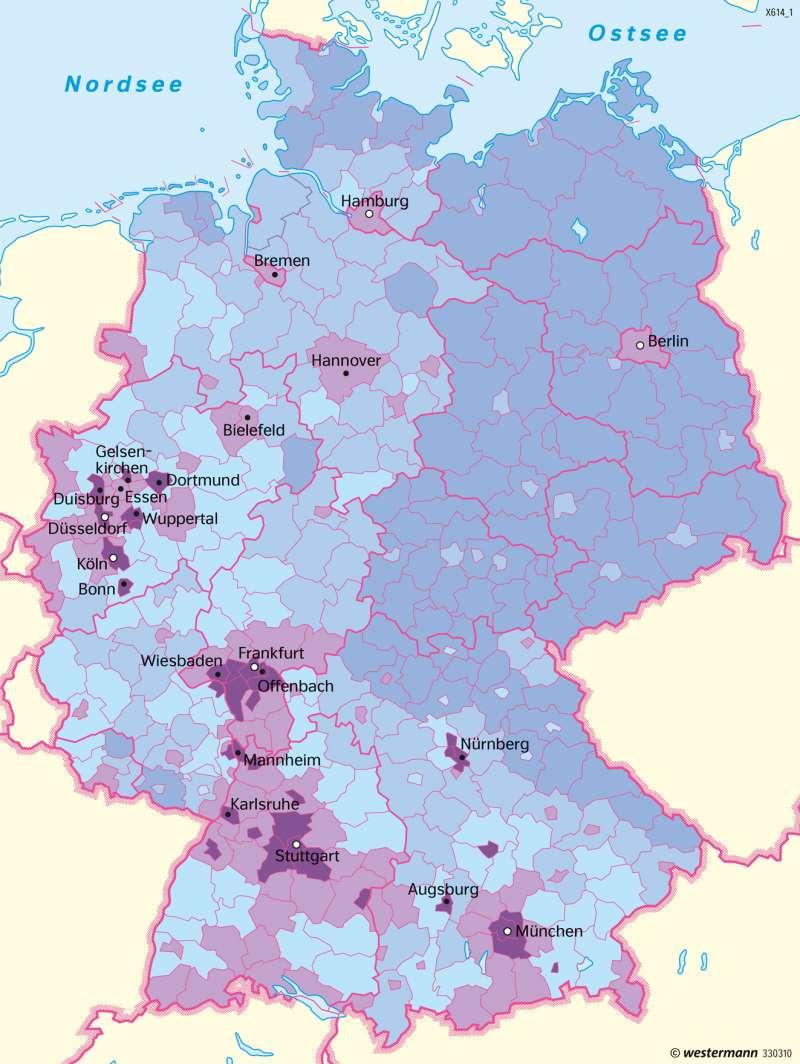 Deutschland   Ausländische Bevölkerung   Deutschland   Karte 77/7