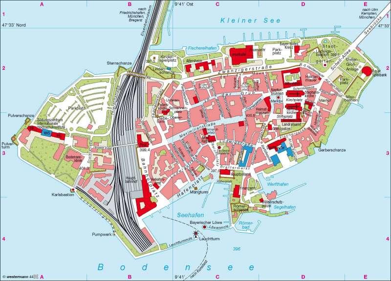 karte lindau bodensee Diercke Weltatlas   Kartenansicht   Lindau   Karte   978 3 14