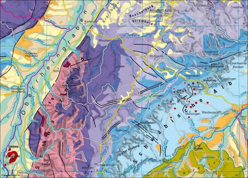 Geologische Karte | Südwestdeutschland | Kartentypen | Karte 15/2