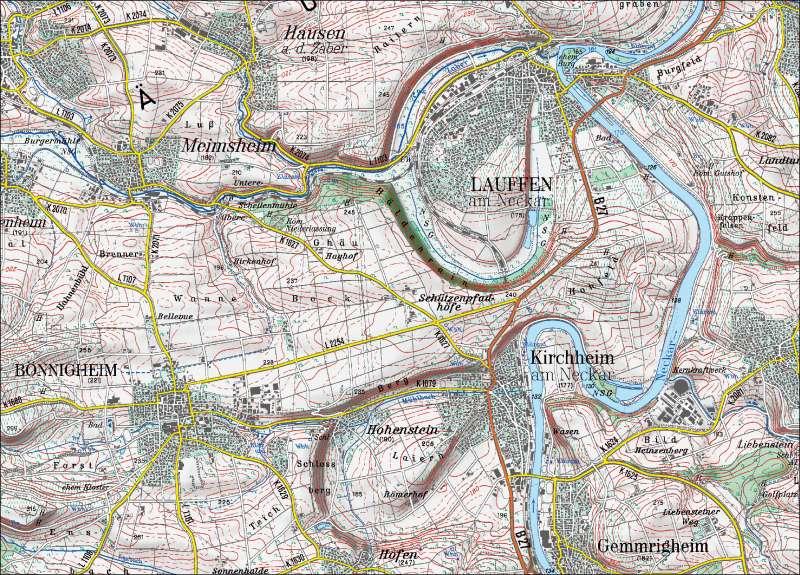 Diercke Weltatlas Kartenansicht Amtliche Topographische Karte
