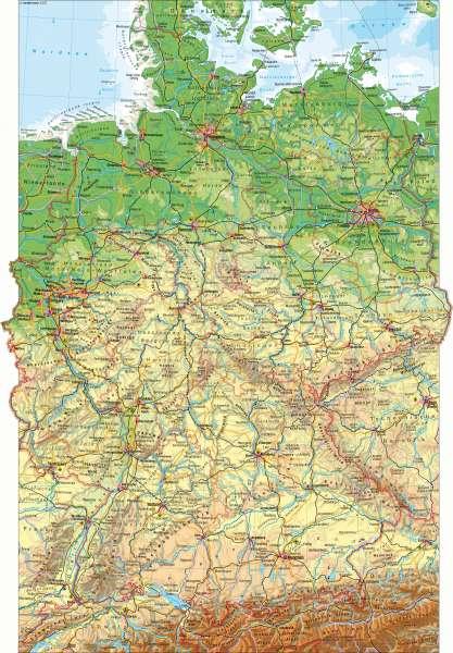 Diercke Weltatlas Kartenansicht Deutschland Physische