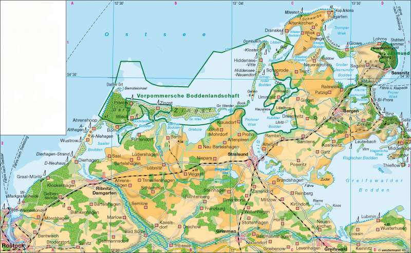 Diercke Weltatlas - Kartenansicht - Boddenküste - - 978-3
