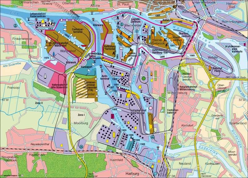 karte freihafen hamburg Diercke Weltatlas   Kartenansicht   Hamburg   Hafen   978 3 14