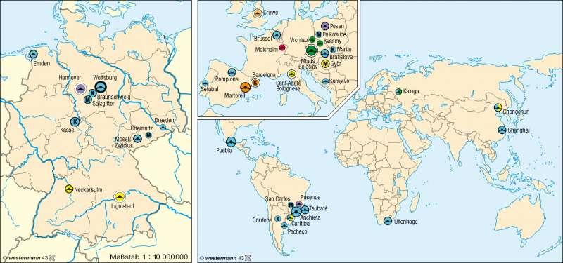 Volkswagen | Produktionsstätten | Industrieraum Braunschweig-Wolfsburg | Karte 33/3