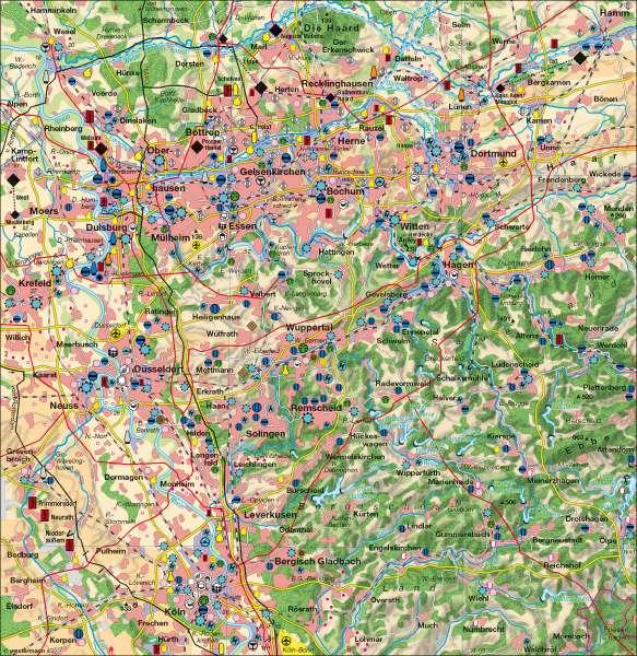 Rheinisch-Westfälisches Industriegebiet 2007      Rheinisch-Westfälisches Industriegebiet   Karte 36/2