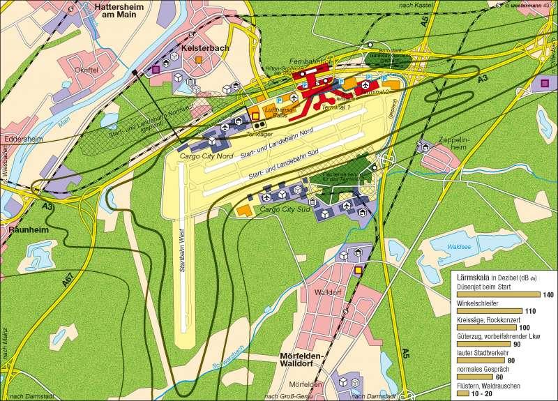 Flughafen Frankfurt/Main |  | Wirtschaftsraum Rhein-Main | Karte 40/2