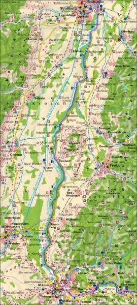 Oberrhein | Wirtschaft | Region Oberrhein | Karte 43/1