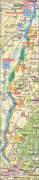 Hochwasserschutz |  | Region Oberrhein | Karte 43/2