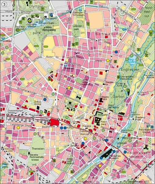 München   innerstädtische Erholung und Freizeit   München   Karte 47/3