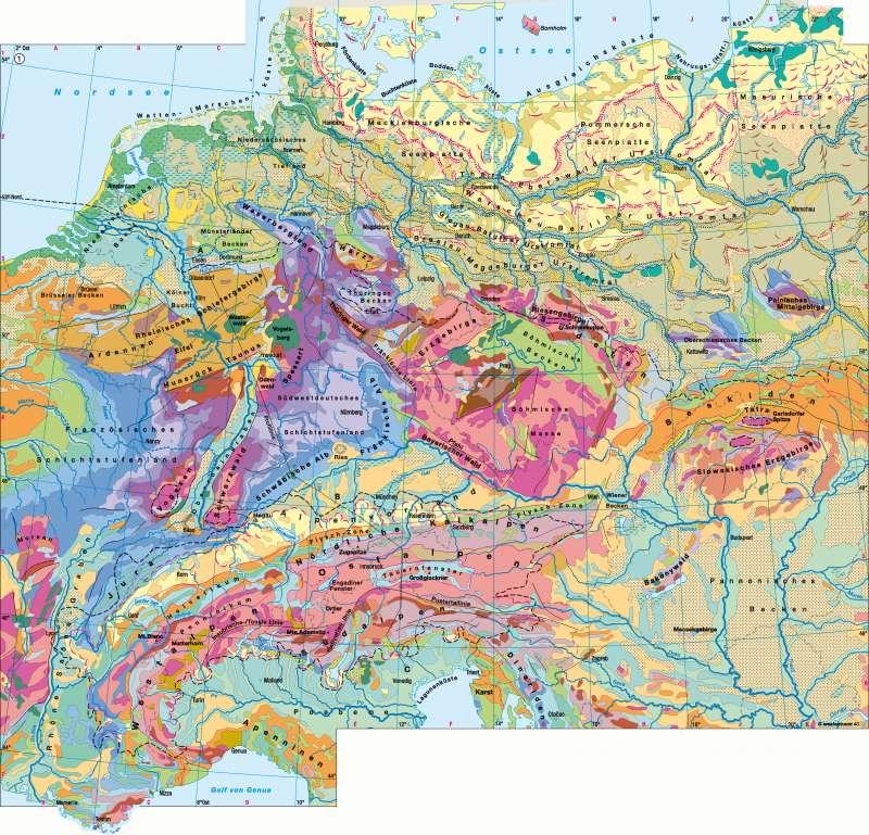 geologische karte deutschland Diercke Weltatlas   Kartenansicht   Deutschland/Mitteleuropa  geologische karte deutschland