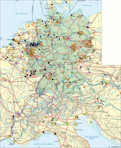 Deutschland | Elektrizitätserzeugung | Deutschland - Energie | Karte 50/1