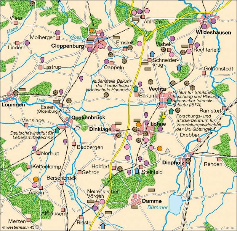 Diercke Weltatlas Kartenansicht Cloppenburg Vechta