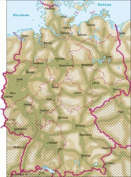 Luftbelastung |  | Deutschland - Umwelt | Karte 58/1