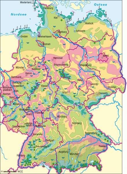 Bioklima |  | Deutschland - Umwelt | Karte 58/2