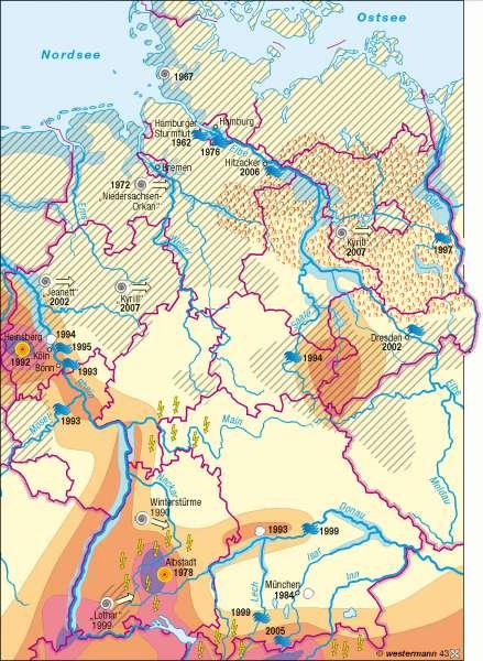 Naturgefahren |  | Deutschland - Umwelt | Karte 59/5