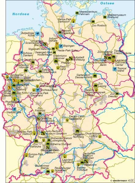 Erlebnistourismus |  | Deutschland - Tourismus | Karte 61/2