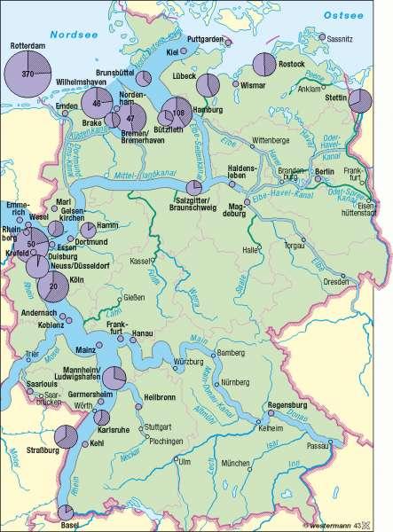 binnenwasserstraßen deutschland karte Diercke Weltatlas   Kartenansicht   Wasserstraßen     978 3 14