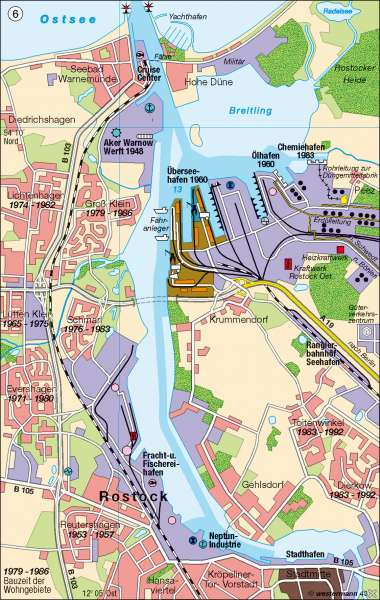 Rostock | Seehafen | Deutschland - Verkehr/Transport/Logistik | Karte 63/6