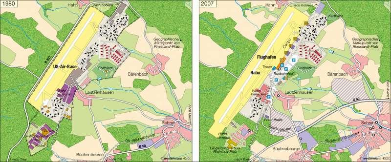 Flughafen Hahn | Konversion eines Militärstandortes | Deutschland - Verkehr/Transport/Logistik | Karte 63/7