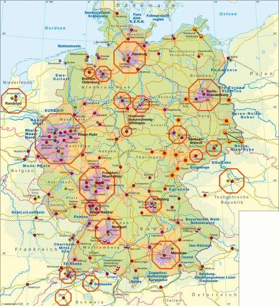 Diercke Weltatlas - Kartenansicht - Deutschland - Raumordnung - 978 ...