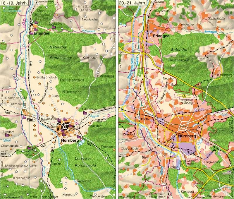 Erlangen Karte Deutschland.Diercke Weltatlas Kartenansicht Grossraum Nurnberg