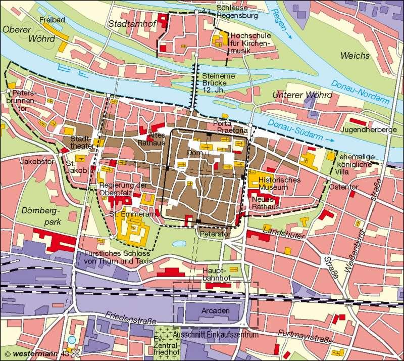 Diercke Weltatlas - Kartenansicht - Regensburg - funktionale ...