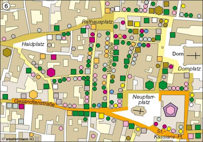 Regensburg | Altstadt | Deutschland - Wandel ländlicher und städtischer Siedlungen | Karte 69/6