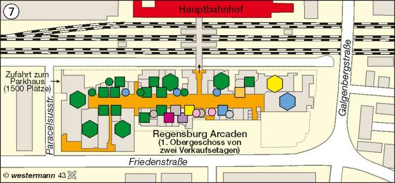 Regensburg | Einkaufszentrum | Deutschland - Wandel ländlicher und städtischer Siedlungen | Karte 69/7