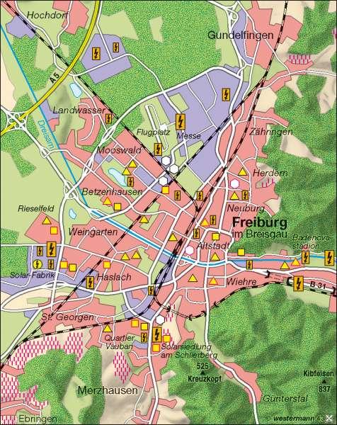 Freiburg Karte Stadtteile.Diercke Weltatlas Kartenansicht Solarregion Freiburg 978 3
