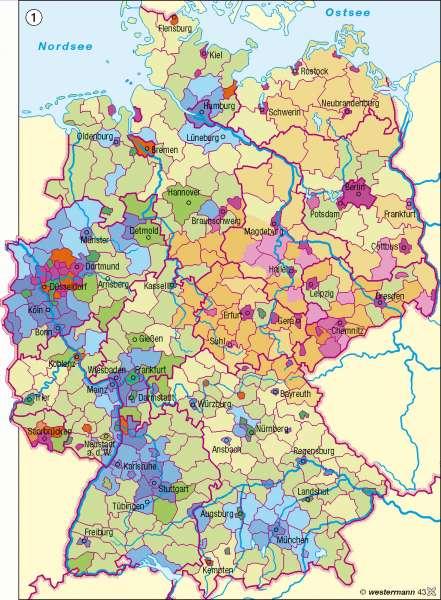 Veränderung der Bevölkerungsdichte 1990-2004      Deutschland - Bevölkerungsdynamik   Karte 72/1