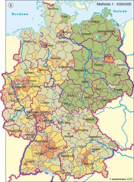 Ausländische Bevölkerung |  | Deutschland - Bevölkerungsdynamik | Karte 73/5