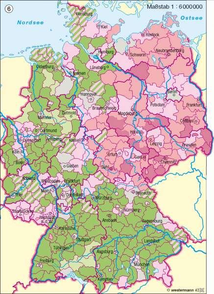 Altersstruktur 2020 |  | Deutschland - Bevölkerungsdynamik | Karte 73/6
