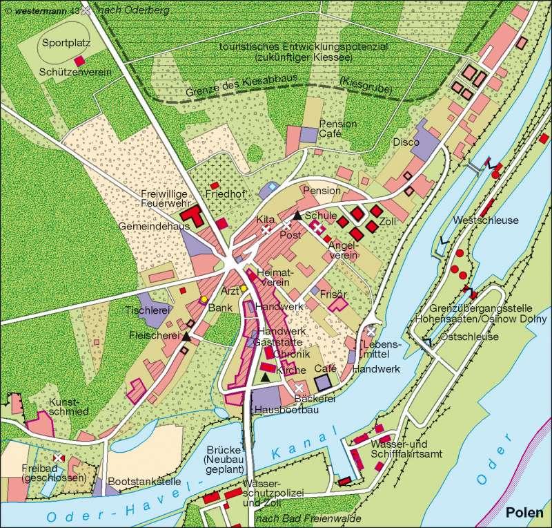 Hohensaaten (Brandenburg)   Überalterung   Deutschland - Bevölkerungsdynamik   Karte 73/8
