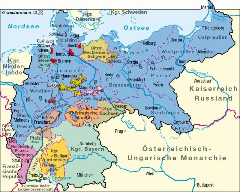 deutschlandkarte von 1900 Diercke Weltatlas   Kartenansicht   Deutsches Reich 1900     978 3