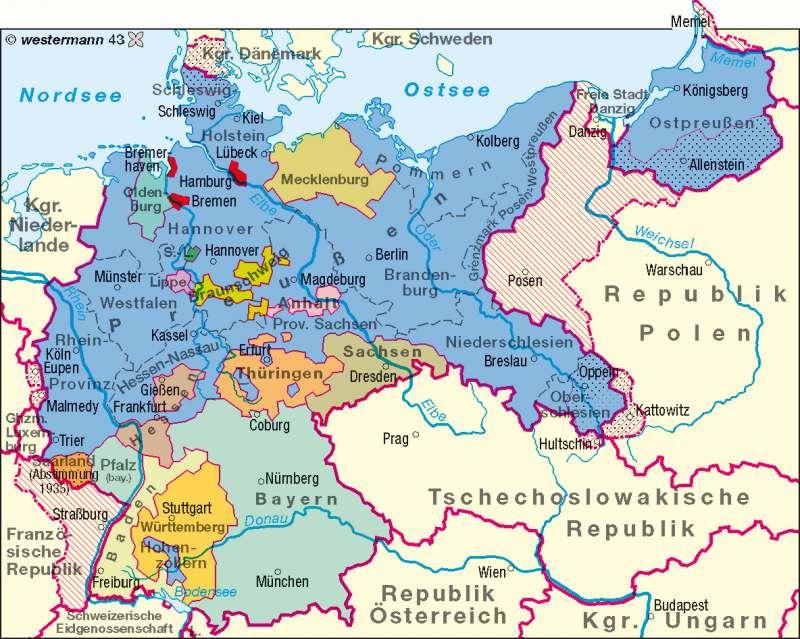Diercke Weltatlas Kartenansicht Deutsches Reich 1937 978 3