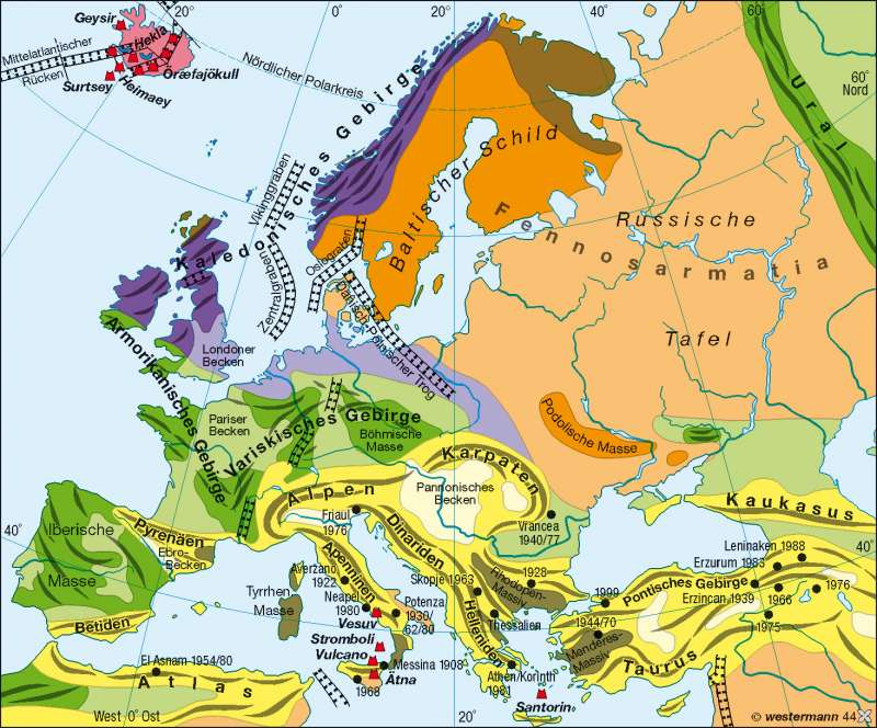 Geotektonik |  | Europa – physische Übersicht | Karte 89/2