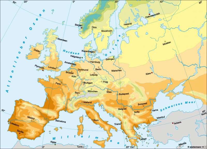 Europa | Frühlingseinzug | Europa - Klima | Karte 81/4