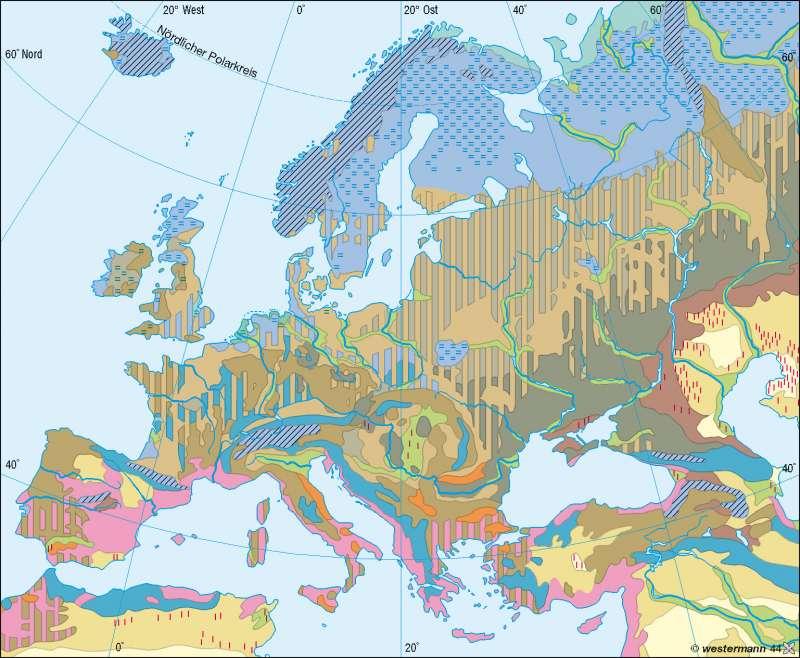 Bodentypen |  | Europa - Landwirtschaft | Karte 83/2