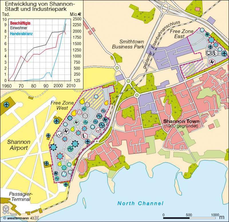 Shannon (Irland) | regionaler Wachstumspol | Europäische Union | Karte 87/6