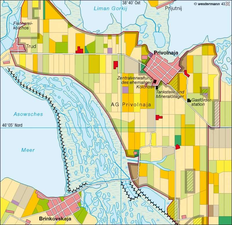 Diercke Weltatlas Kartenansicht Privolnaja Region Krasnodar