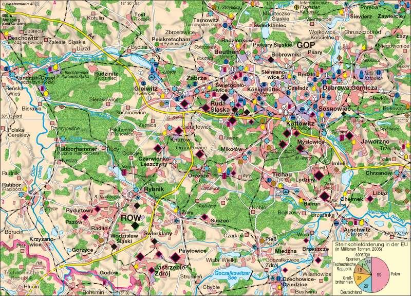 Schlesien Karte Heute.Diercke Weltatlas Kartenansicht Oberschlesisches Industriegebiet