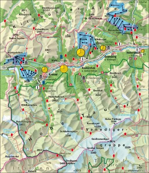 Krimml (Österreich)   Tourismus und Naturschutz   Alpen - Tourismus und Umwelt   Karte 103/3