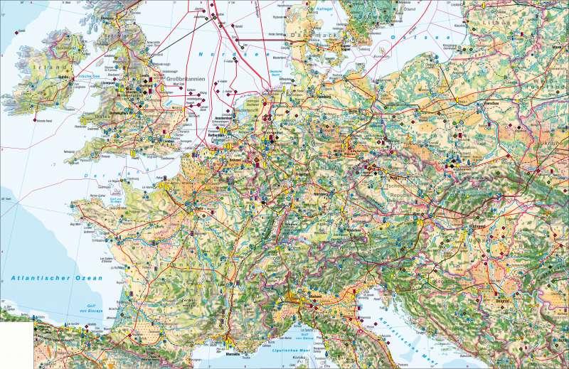 West- und Mitteleuropa | Wirtschaft | West- und Mitteleuropa – Wirtschaft | Karte 70/1