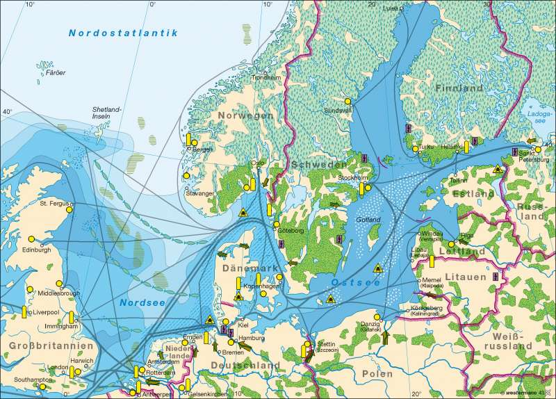 Diercke Weltatlas Kartenansicht Nord Ostsee Umweltbelastung