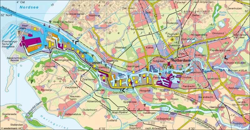Rotterdam | Europoort | Niederlande - Raumordnung/Hafen | Karte 109/2
