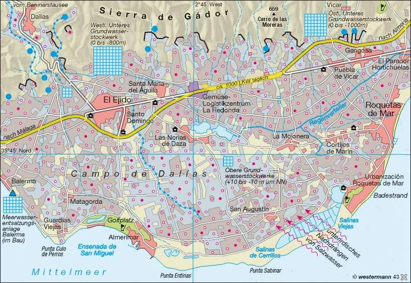 El Ejido (Almería) | Treibhausanbau | Spanien - Landwirtschaft | Karte 119/3