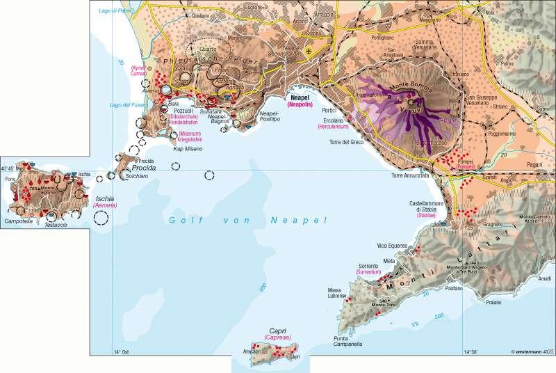 Vulkane Der Erde Karte.Diercke Weltatlas Kartenansicht Golf Von Neapel Leben Am