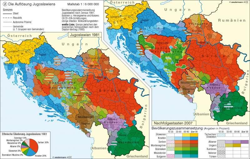 Jugoslawien Karte.Diercke Weltatlas Kartenansicht Die Auflösung Jugoslawiens