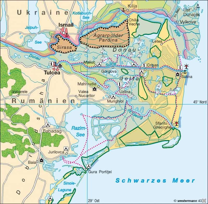 Donaudelta      Balkanhalbinsel – Wasser   Karte 66/2