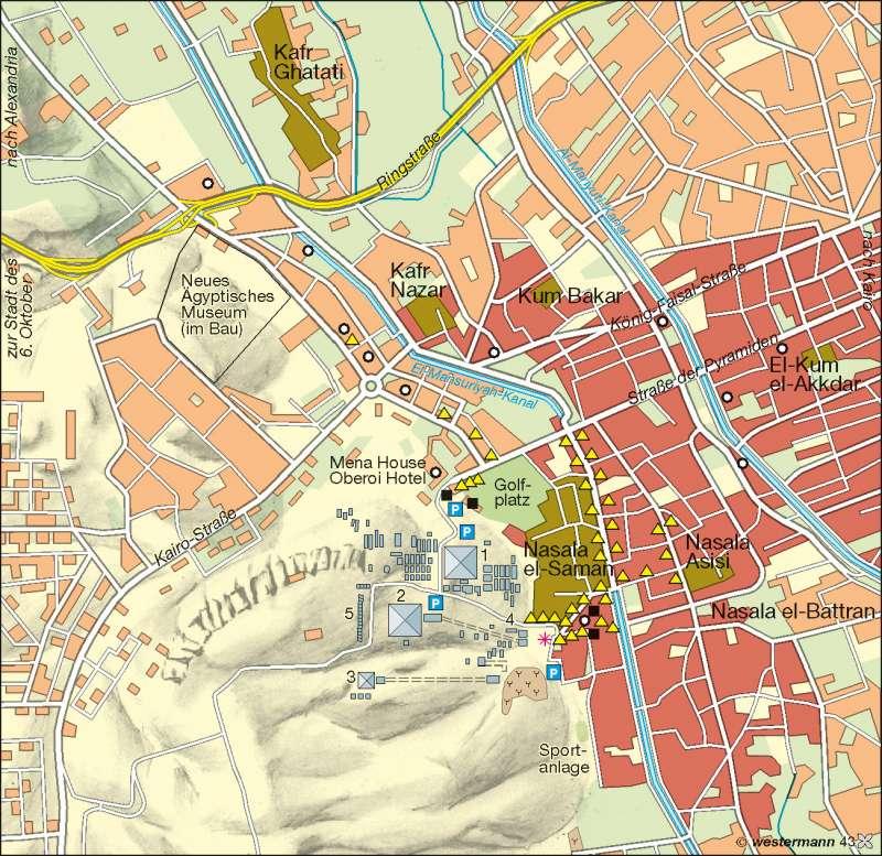 Gizeh | Tourismusentwicklung und Stadtwachstum | Erde – Tourismus | Karte 182/2